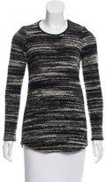 Etoile Isabel Marant Leather-Trimmed Bouclé Sweater