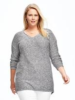 Old Navy Relaxed Plus-Size Textured V-Neck Sweater