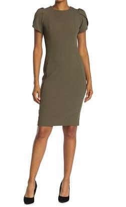 Calvin Klein Tulip Sleeve Sheath Dress