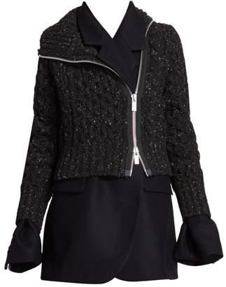 Sacai Layered Wool Jacket