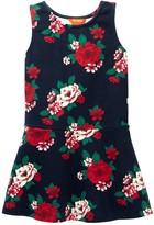 Joe Fresh Sleeveless Flared Print Dress (Toddler & Little Girls)