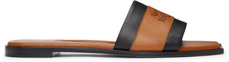 Alexander McQueen Brown and Black Signature Slides