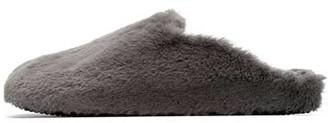 Mint Velvet Grey Faux Fur Slippers