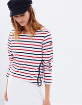 Maison Scotch Long Sleeve Stripe Tee