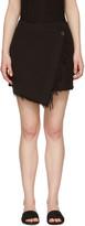 Raquel Allegra Black Wrap Miniskirt