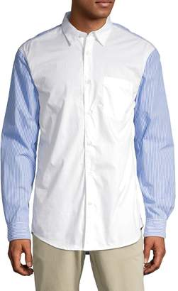 French Connection Striped Loose-Fit Button-Down Shirt
