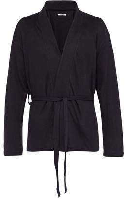 Hecho - Belted Linen Smoking Jacket - Mens - Navy
