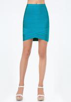Bebe Petite Woven Hem Skirt