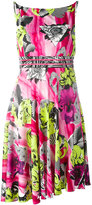 Versace abstract floral print dress