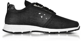 DSQUARED2 Marte Run Black Washed Denim Men's Sneakers