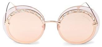Roberto Cavalli 58MM Rimless Round Sunglasses