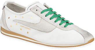 Saint Laurent Mixed Media Star Trainer Sneakers