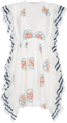 Philosophy di Lorenzo Serafini Frilled mini cotton dress