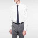 Paul Smith Men's Textured Navy Pin Dot Narrow Silk Tie