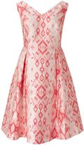 Adrianna Papell Multicolour aztec jacquard dress