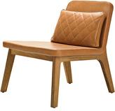Houseology addinterior LEAN Chair Cognac Leather - Natural Oak Legs & Dark Brown Cushion