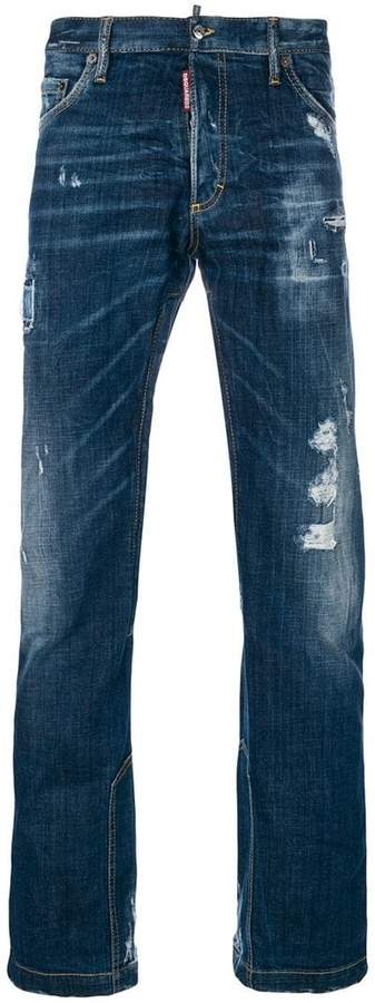 DSQUARED2 Distressed flared-leg jeans