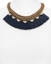 "Aqua Johnnie Fringe Statement Necklace, 15"" - 100% Exclusive"