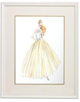 The Well Appointed House Barbie Couture Series Framed Girls Wall Art: Evening Dress