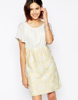 Traffic People Send Me No Flowers Reckless Dress With Floral Crochet Skirt