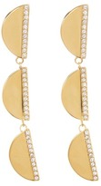Cole Haan Crystal Accented Tiered Half Moon Drop Earrings