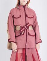 Sacai Houndstooth cotton drill jacket