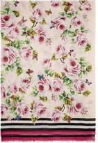 Dolce & Gabbana Pink Floral Scarf