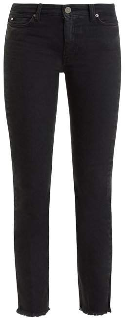 MiH Jeans Daily Raw Hem High Rise Straight Leg Jeans - Womens - Black