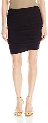 Star Vixen Women's Rouched Mini Skirt