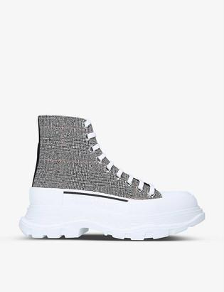 Alexander McQueen Tread Slick woven ankle boots