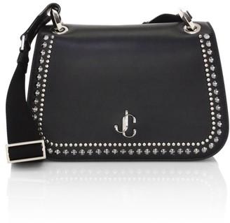 Jimmy Choo Medium Varenne Studded Leather Saddle Bag