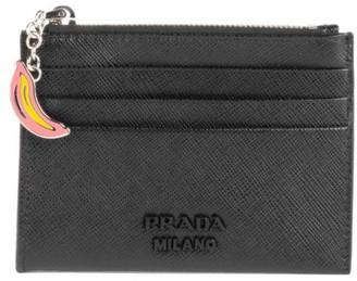 Prada Smalto Charm Saffiano Leather Card Case