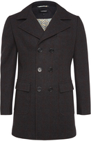Oxford Spencer Checked Coat Charcoal X