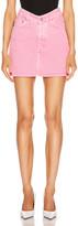 Balenciaga V Neck Mini Skirt in Vintage Pink   FWRD