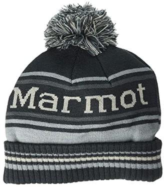 Marmot Retro Pom Hat (Dark Steel/Grey Storm) Knit Hats