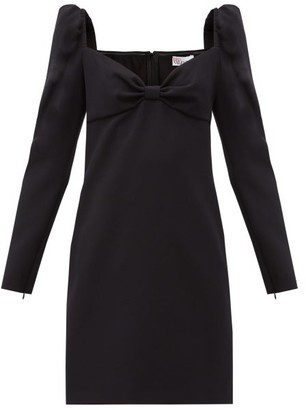 RED Valentino Sweetheart-neck Crepe Mini Dress - Black