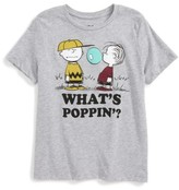 Mighty Fine Toddler Boy's X Peanuts What's Poppin'? T-Shirt