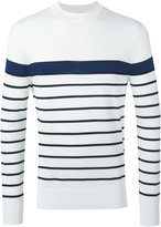 Neil Barrett striped jumper - men - Nylon/Viscose - M