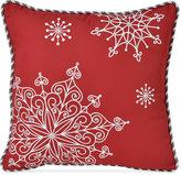 """Victoria Classics Snowflake 16"""" Square Decorative Pillow"""