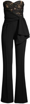 Rebecca Vallance Betty Lace & Bonded Crepe Sleeveless Jumpsuit