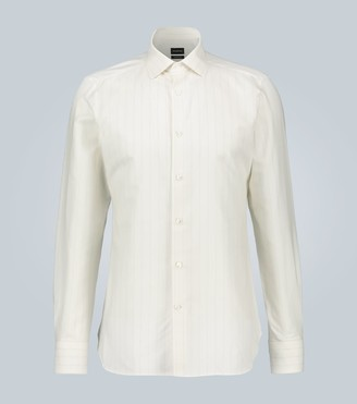 Ermenegildo Zegna Cotton, linen and silk-blend shirt