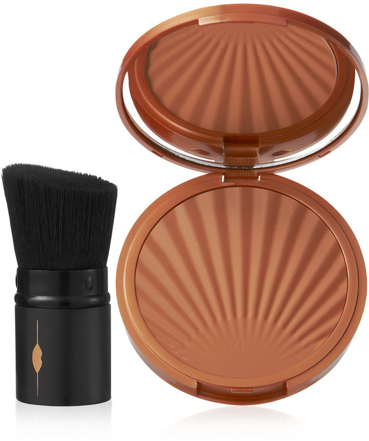 Laura Geller New York Baked Impressions Matte and Water-Resistant Bronzer with Brush