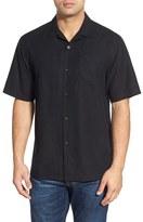 Tommy Bahama Men's Java Dobby Original Fit Silk Camp Shirt