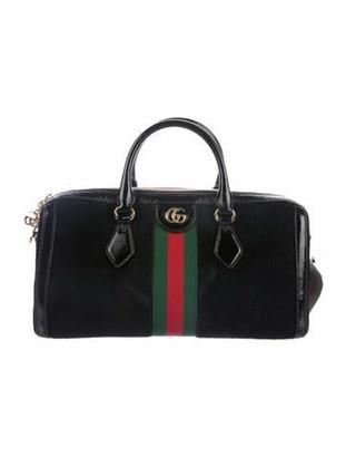 Gucci 2019 Ophidia Medium Top Handle Bag Black