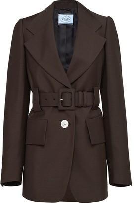 Prada Belted Masculine Fit Blazer