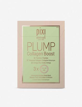 Pixi PLUMP Collagen Boost Sheet Mask pack of three