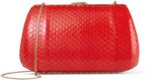 Nina Ricci Leather-trimmed elaphe clutch