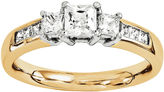 MODERN BRIDE 1 3/4 CT. T.W. Diamond 14K Gold 3-Stone Engagement Ring