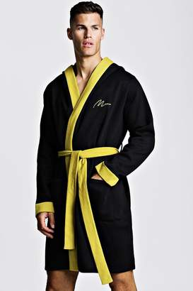 boohoo MAN Gold Embroidered Robe