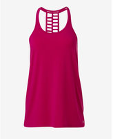 Express pink EXP core double ladder racerback tank